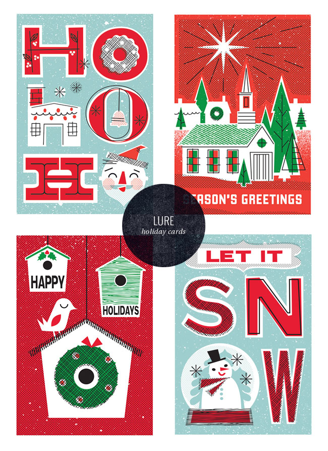 Vintage-Inspired Holiday Cards | Lure Paper Goods
