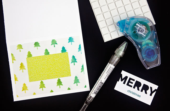 DIY Stenciled Christmas Card, Step 4