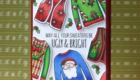 Ugly Sweater Handmade Card | Laura Bassen
