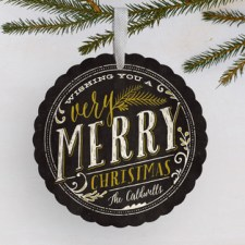 Very Merry Holiday Ornament Cards