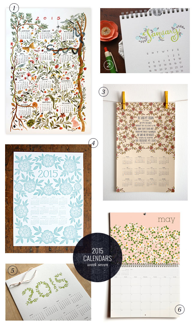 2015 Calendars, Week Seven (Beautiful Botanicals)