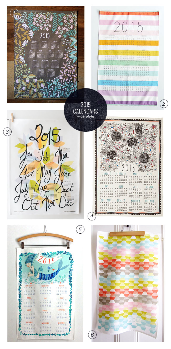 2015 Tea Towel Calendars