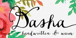 Dasha Script Font by Magpie Paper Works