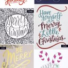 Yep, It's More Hand Lettered Holiday Card Love!