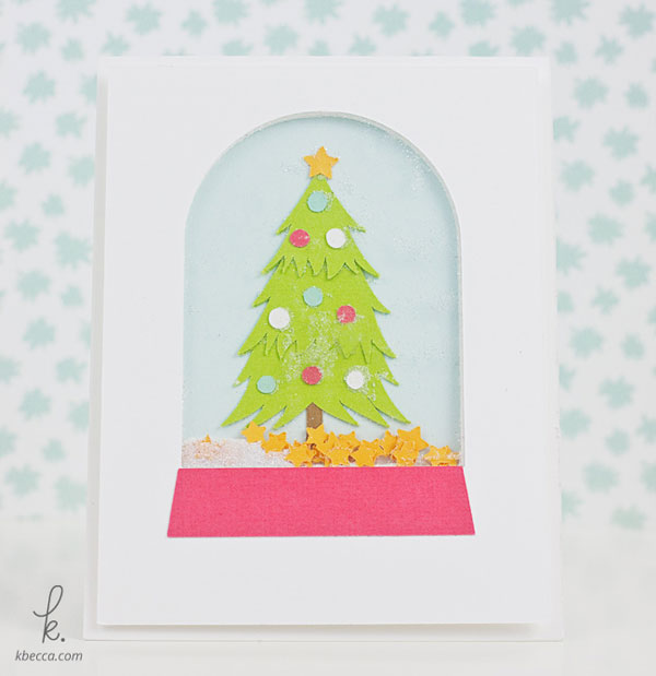 Christmas Tree Snow Globe Shaker Card Cut Files | K.becca