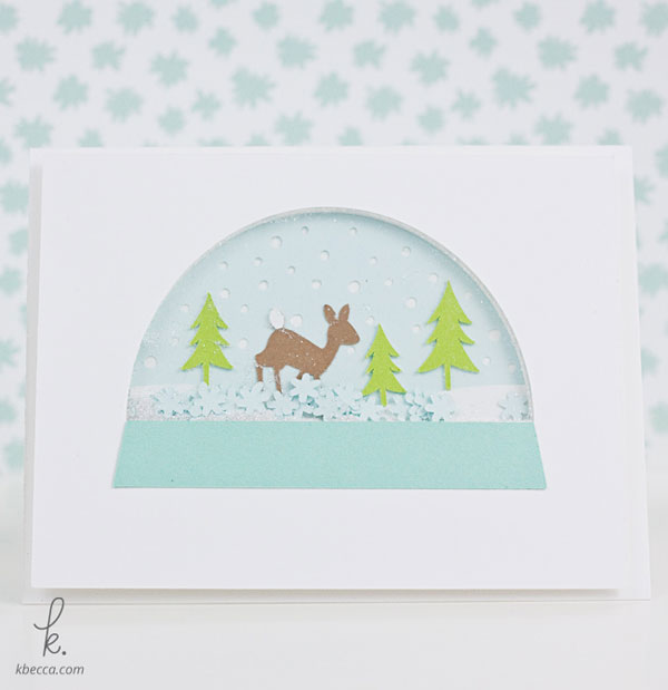 Woodsy Snow Globe Shaker Card Cut Files | K.becca
