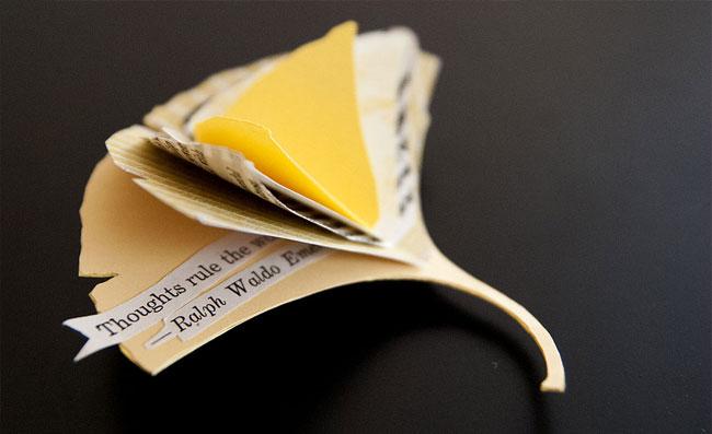 Gingko Leaf Miniature Book   Janet Guertin