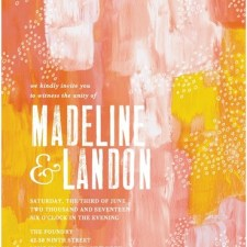 Painterly Abstract Wedding Invitations by Stacey Day