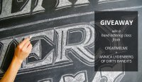 CreativeLive Hand Lettering Class Giveaway at Paper Crave!