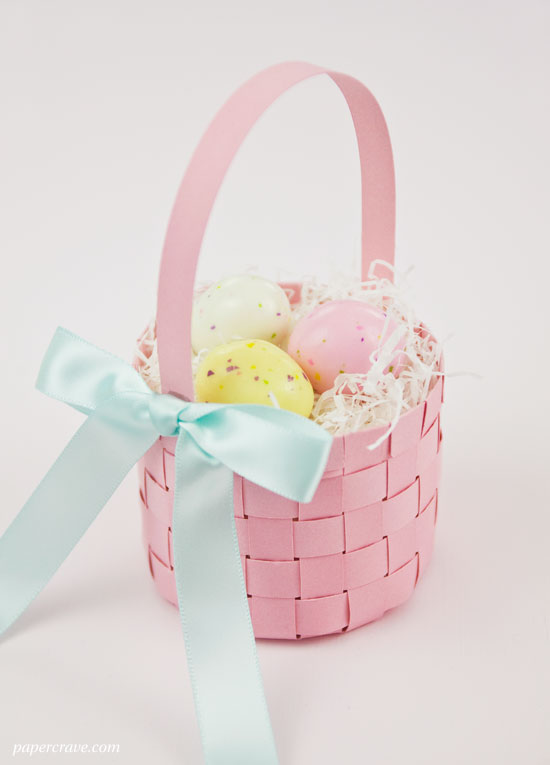 Woven Basket How To Make : Make a woven paper easter basket free templates included