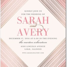 Geometric Foil Stamped Wedding Invitations by Elm and Gray