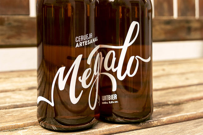 Hand Lettered Beer Packaging by Megalo Design