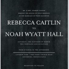 Chic Typography Wedding Invitations by Magnolia Press