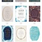 2015 Wedding Invitation Trends : Oval Frames