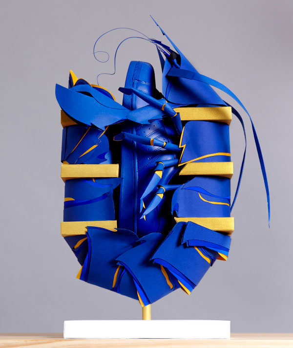 Blue Lobster Paper Sculpture by Benja Harney for Adidas Australia