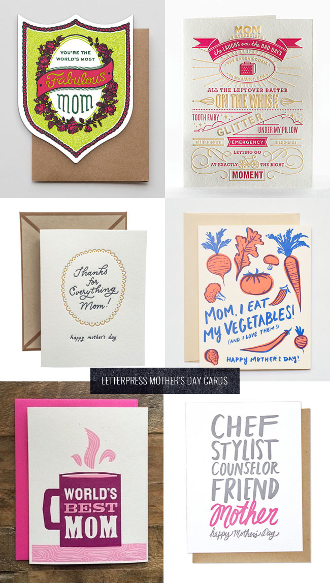 Letterpress Mother's Day Cards #2