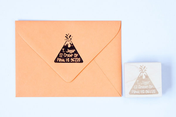 Volcano Personalized Address Stamp by Felicette
