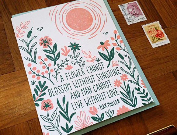 A Flower Letterpress Card by Noteworthy Paper & Press
