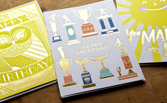 Hello! Lucky for Target Gold Foil Stamped Cards