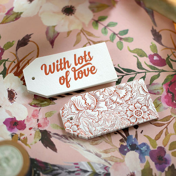 Bespoke Letterpress Copper Foil Gift Tags
