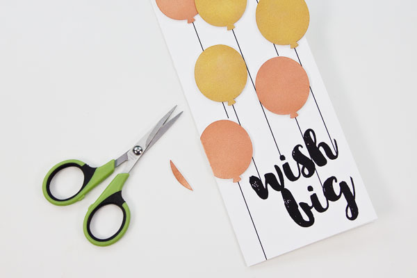 Make a Metallic Balloons Birthday Card (Free Card Template Included