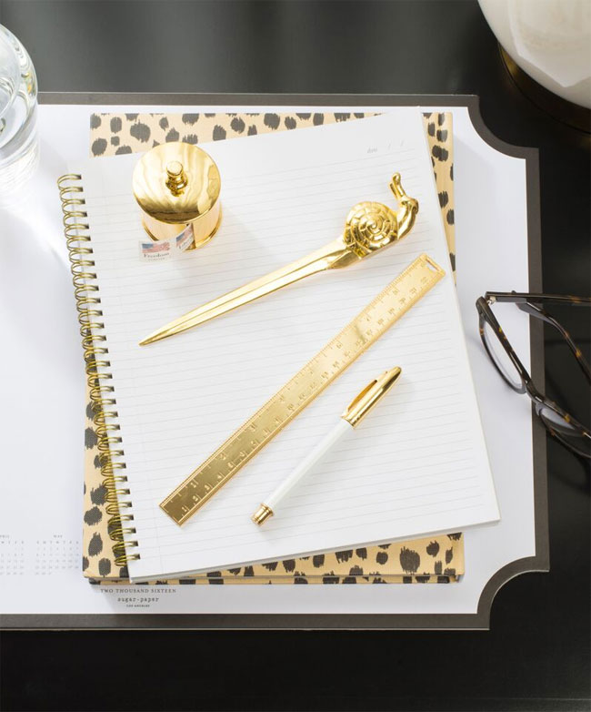 The Sugar Paper Signature Desk Collection (love that snail mail letter opener!)