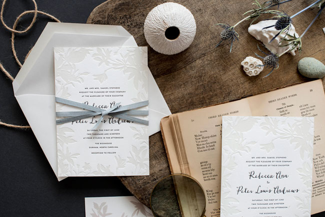 Lima Beach Wedding Invitations by Hello Tenfold (photo credit: Lissa Gotwals)