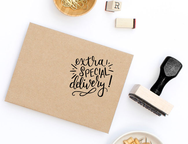 Extra Special Delivery Rubber Stamp by Printable Wisdom
