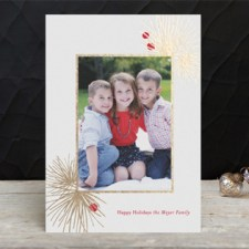 Evergreen Bough Foil Holiday Photo Cards by Carrie O'Neal