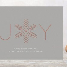 Snowflake Foil Business Holiday Cards by Lauren Chism