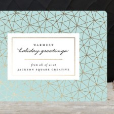 Modern Geometric Business Holiday Cards by Kristie Kern