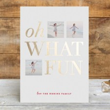 Oh What Fun Foil Holiday Photo Cards by Carrie O'Neal