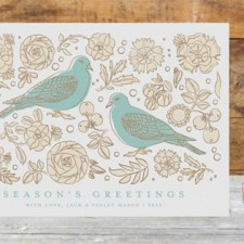 Turtle Doves Business Holiday Cards by Snow & Ivy