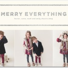 Merry Everything Glitter Holiday Photo Cards by Stacey Day