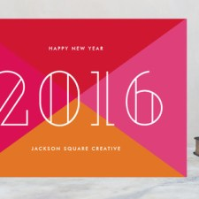 Bold New Year Business Holiday Cards by Sandra Picco