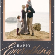 Happy Everything Foil Stamped Holiday Photo Cards by Hello Little One