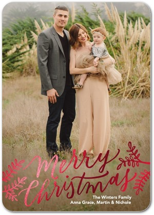 Gilded Branches Foil Stamped Holiday Photo Cards by Magnolia Press