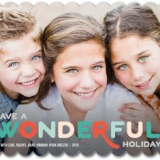 Modern Wonderful Holiday Photo Cards by Robyn Miller