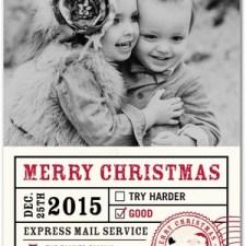 Santa Spirit Holiday Photo Cards by Pottery Barn Kids