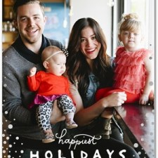 Snow Dots Foil Stamped Holiday Photo Cards by Petite Alma