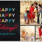 Multi-Photo Happy Holiday Photo Cards by Robyn Miller