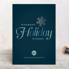 Winter Snowflake Business Holiday Cards by Sarah Curry