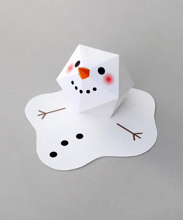 Melting Snowman Paper Craft from Mini Eco