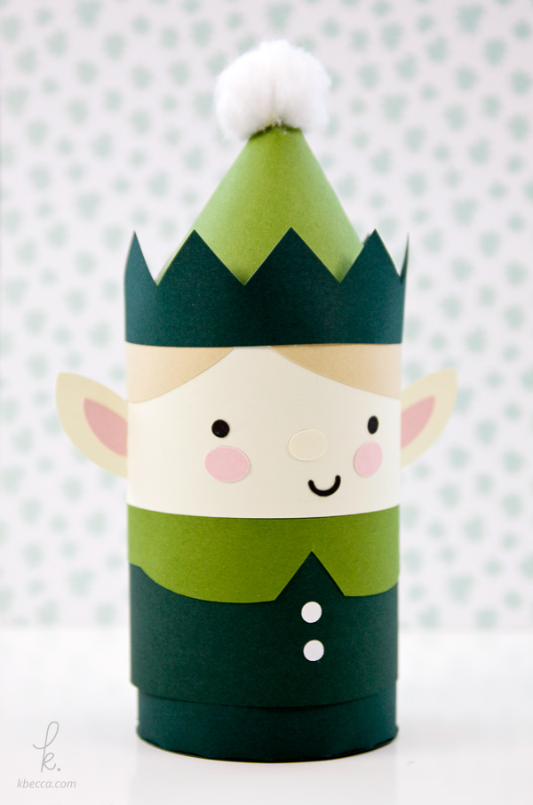 DIY Die Cut Elvin the Elf Holiday Gift Box Paper Craft