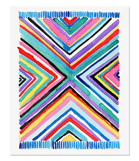 Kilim Rug 3 Art Print by Golden Fox Goods