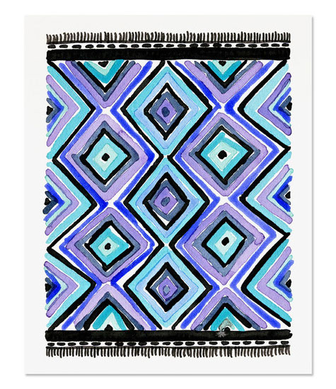 Kilim Rug 4 Art Print by Golden Fox Goods