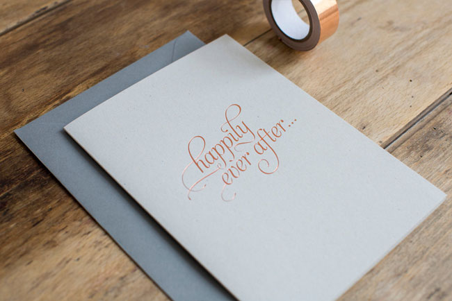 Copper Foil Happily Ever After Card by Nothing But Lovely