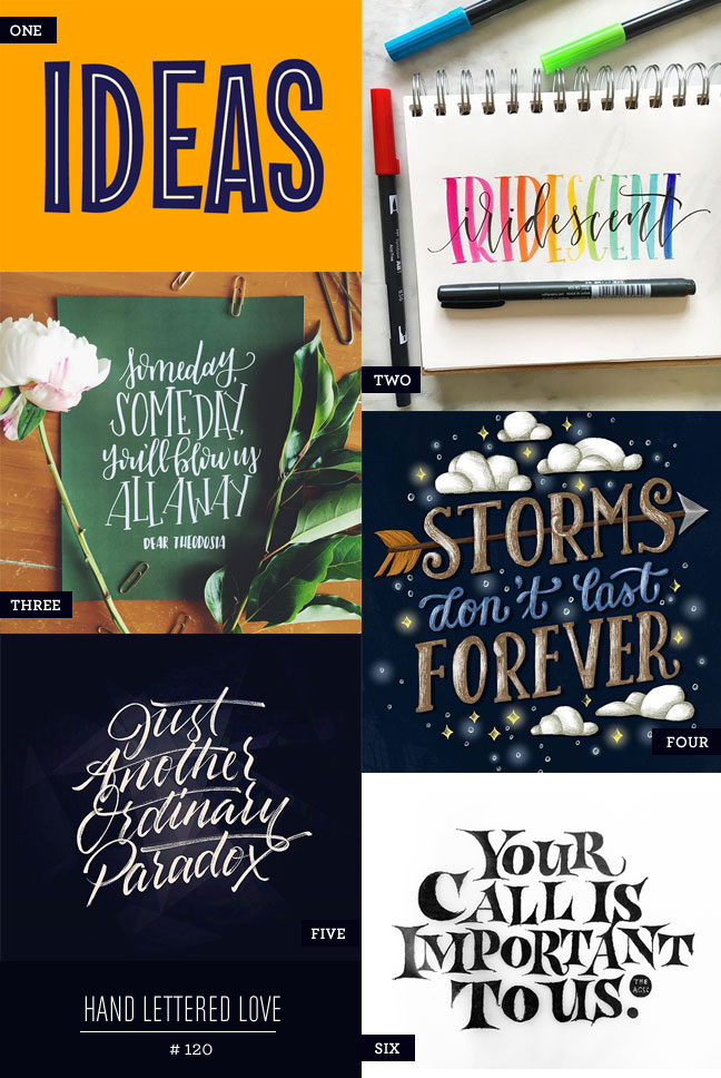 Hand Lettered Love #120
