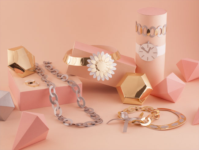 3D Jewelry Paper Sculpture by Lorraine Nam