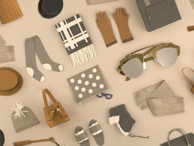 3D Accessories Paper Sculpture by Lorraine Nam